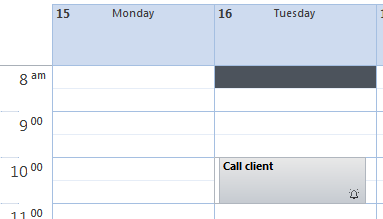 Outlook Task was moved in Outlook Calendar