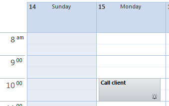 Outlook Task is displayed in your Outlook Calendar