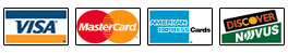 We accept all popular credit cards